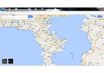 google map pac-man~エイプリルフールらしい~